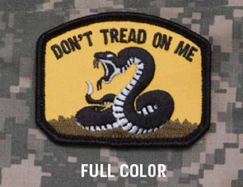 DON'T TREAD ON ME TACTICAL COMBAT BADGE VELCRO MILITARY MORALE PATCH - Full Color