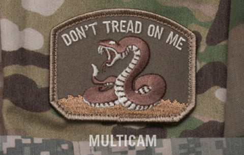 DON'T TREAD ON ME TACTICAL COMBAT BADGE VELCRO MILITARY MORALE PATCH - MULTICAM