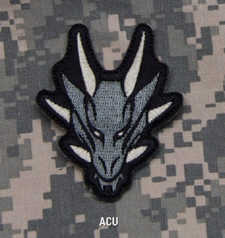 DRAGON HEAD TACTICAL COMBAT BLACK OPS ISAF BADGE MORALE VELCRO MILITARY PATCH - ACU
