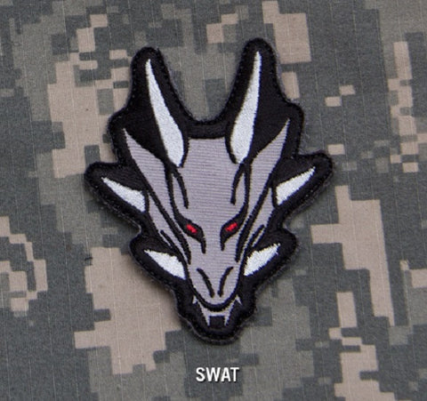 DRAGON HEAD TACTICAL COMBAT BLACK OPS ISAF BADGE MORALE VELCRO MILITARY PATCH - SWAT