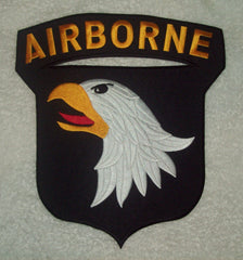 ARMY 101st AIRBORNE SCREAMING EAGLES LARGE BACK PATCH
