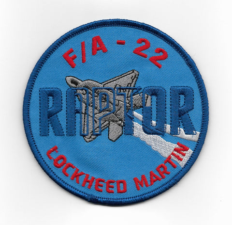 USAF LOCKHEED MARTIN F/A 22 RAPTOR MILITARY PATCH