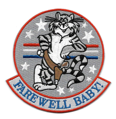 FAREWELL, BABY! Tomcat Navy Military Patch