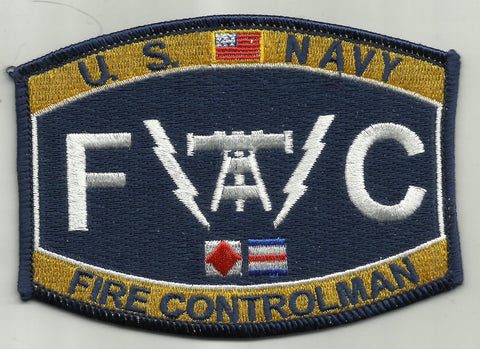United States NAVY FIRE CONTROLMAN - FC - MILITARY RATINGS PATCH