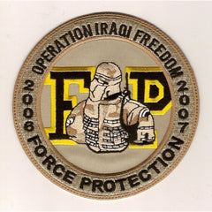 ARMY - Force Protection Operation Iraqi Freedom Military Patch 2006 - 2007