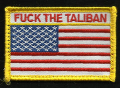 FUCK THE TALIBAN USA FLAG VELCRO MORALE PATCH - Full Color