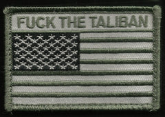 FUCK THE TALIBAN USA FLAG VELCRO MORALE PATCH - SWAT