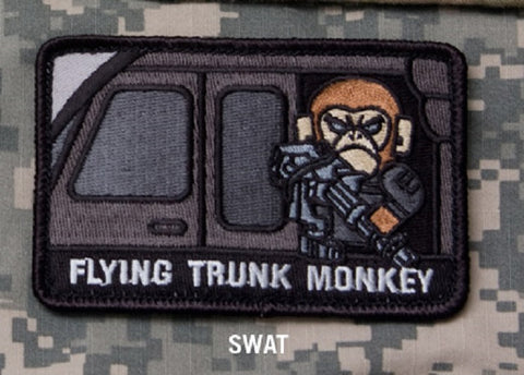 FLYING TRUNK MONKEY - SWAT - TACTICAL BADGE MORALE VELCRO MILITARY PATCH