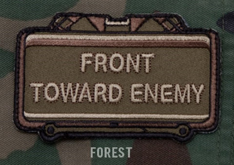 FRONT TOWARD ENEMY - FOREST - BLACK OPS TACTICAL COMBAT BADGE MORALE VELCRO MILITARY PATCH