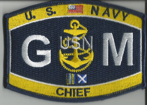 Navy Weapons Specialty Rating CHIEF Gunners Mate Military Patch CGM