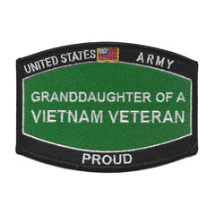 PROUD Grand-Daughter Of A Vietnam Veteran ARMY Patch