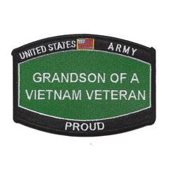 PROUD Grandson Of A Vietnam Veteran ARMY Patch