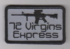 72 VIRGINS EXPRESS VELCRO MORALE PATCH - GREY