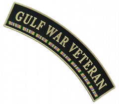 GULF WAR VETERAN UPPER TOP ROCKER - RIBBON