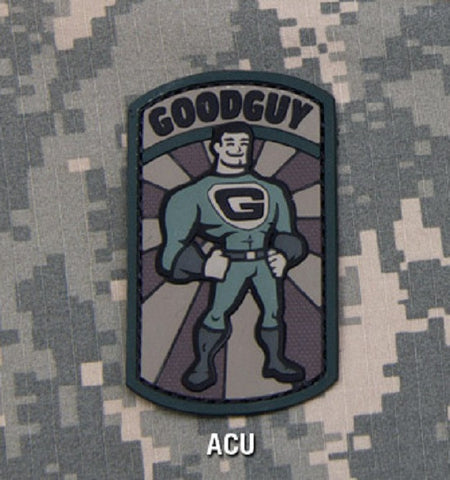 GOODGUY TACTICAL COMBAT BADGE MORALE PVC RUBBER VELCRO MILITARY PATCH - ACU