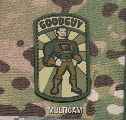 GOODGUY TACTICAL COMBAT BADGE MORALE PVC RUBBER VELCRO MILITARY PATCH - MULTICAM