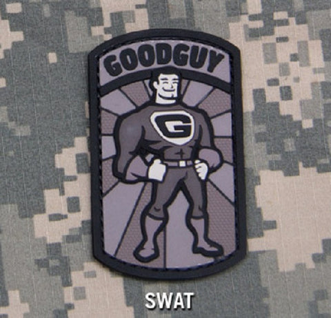 GOODGUY TACTICAL COMBAT BADGE MORALE PVC RUBBER VELCRO MILITARY PATCH - SWAT