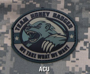 TEAM HONEY BADGER PVC ACU TACTICAL MORALE VELCRO MILITARY PATCH