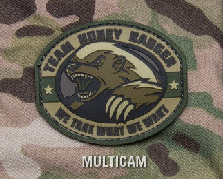 TEAM HONEY BADGER PVC RUBBER MULTICAM TACTICAL MORALE VELCRO MILITARY PATCH WE TAKE WHAT WE WANT