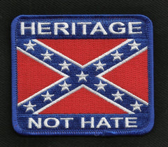 HERITAGE NOT HATE REBEL CONFEDERATE FLAG PATCH