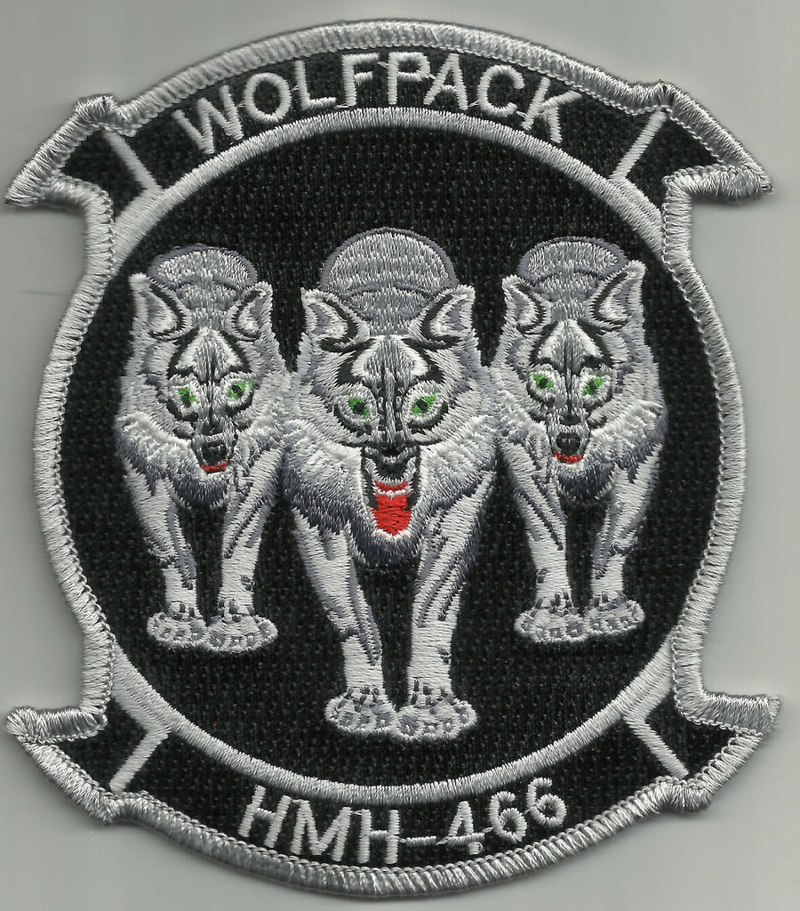 USMC HMH-466 Helicopter Squadron Military Patch - WOLFPACK
