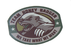 TEAM HONEY BADGER WE TAKE WHAT WE WANT STICKER DECAL - MULTICAM