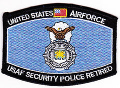 UNITED STATES AIR FORCE USAF SECURITY POLICE RETIRED MOS MILITARY PATCH
