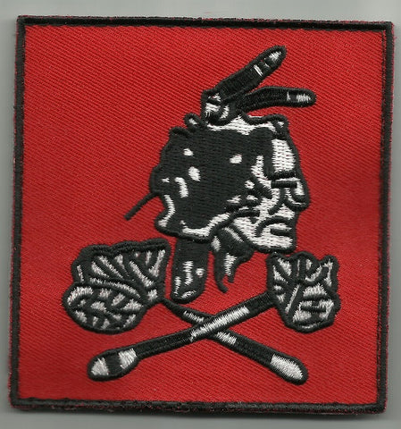 SEAL TEAM NSWDG DEVGRU VELCRO PATCH - RED SQUADRON - BLACK WHITE ON RED