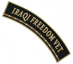IRAQI FREEDOM VET UPPER TOP ROCKER - RIBBON