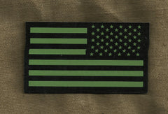 AMERICAN FLAG IR COVERT VELCRO PATCH - REVERSE OD GREEN