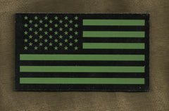 AMERICAN FLAG IR COVERT VELCRO PATCH - FORWARD OD GREEN
