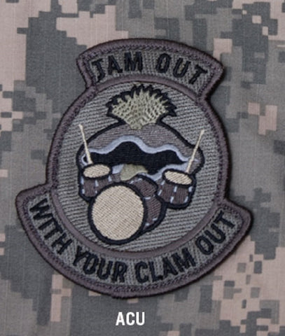 JAM OUT COMBAT TACTICAL BADGE MORALE VELCRO MILITARY PATCH - ACU