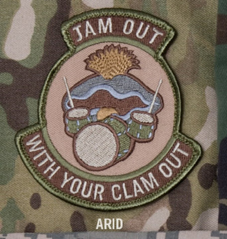 JAM OUT WITH YOUR CLAM OUT HOOK BACKING PATCH - ARID