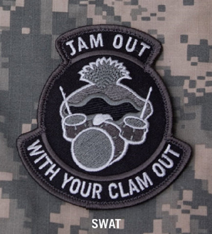 JAM OUT WITH YOUR CLAM OUT HOOK BACKING PATCH - SWAT