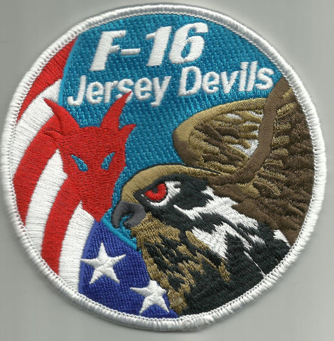 USAF ANG 119th FS Fighter Squadron F-16 JERSEY DEVILS Military Patch