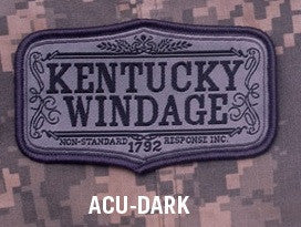 Kentucky Windage 1792 Hook Backing Patch - ACU Dark