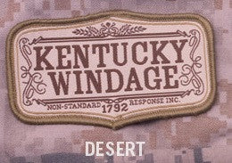 KENTUCKY WINDAGE - DESERT - BLACK OPS TACTICAL COMBAT BADGE MORALE VELCRO MILITARY PATCH