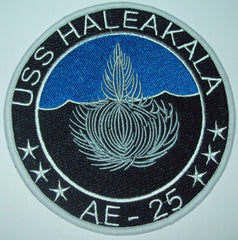 AE-25 USS Haleakala Ammunition Ship Military Patch - BLUE