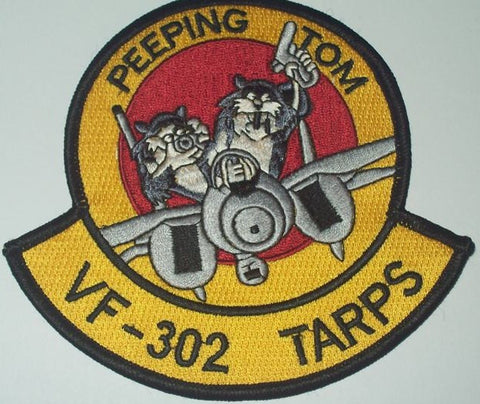 VF-302 Naval Aviation Fighter Squadron Military Patch PEEPING TOM VF-302 TARPS