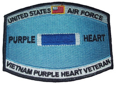 United States AIR FORCE Combat Wounded Military Occupational Specialty MOS Rating Badge of Military Merit Purple Heart Patch VIETNAM VETERAN