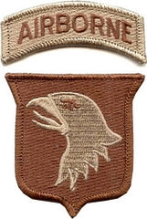 101st AIRBORNE DIVISION ARMY MILITARY PATCH & TAB DESERT