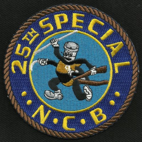 25th SPECIAL NAVAL CONSTRUCTION BATTALION MILITARY PATCH SEABEE NCB 25