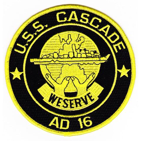 AD-16 USS Cascade Destroyer Tender Military Patch