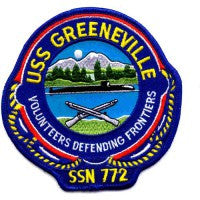 USS GREENEVILLE SSN-772 NUCLEAR ATTACK SUBMARINE MILITARY PATCH