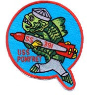 USS POMFRET SS-391 DIESEL SUBMARINE MILITARY PATCH