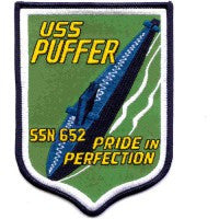 USS PUFFER SSN-652 NUCLEAR ATTACK SUBMARINE PATCH