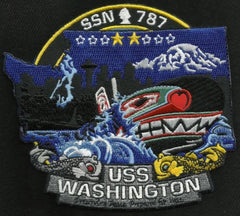 USS WASHINGTON SSN-787 Virginia Class Nuclear Powered Submarine Military Patch