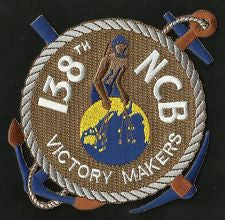 138th NCB NAVAL CONSTRUCTION BATTALION MILITARY PATCH SEABEES VICTORY MAKERS