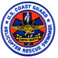 999 united states coast guard helicopter rescue swimmer semper paratus patch