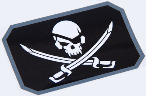 PIRATE SKULL FLAG TACTICAL COMBAT DECAL STICKER